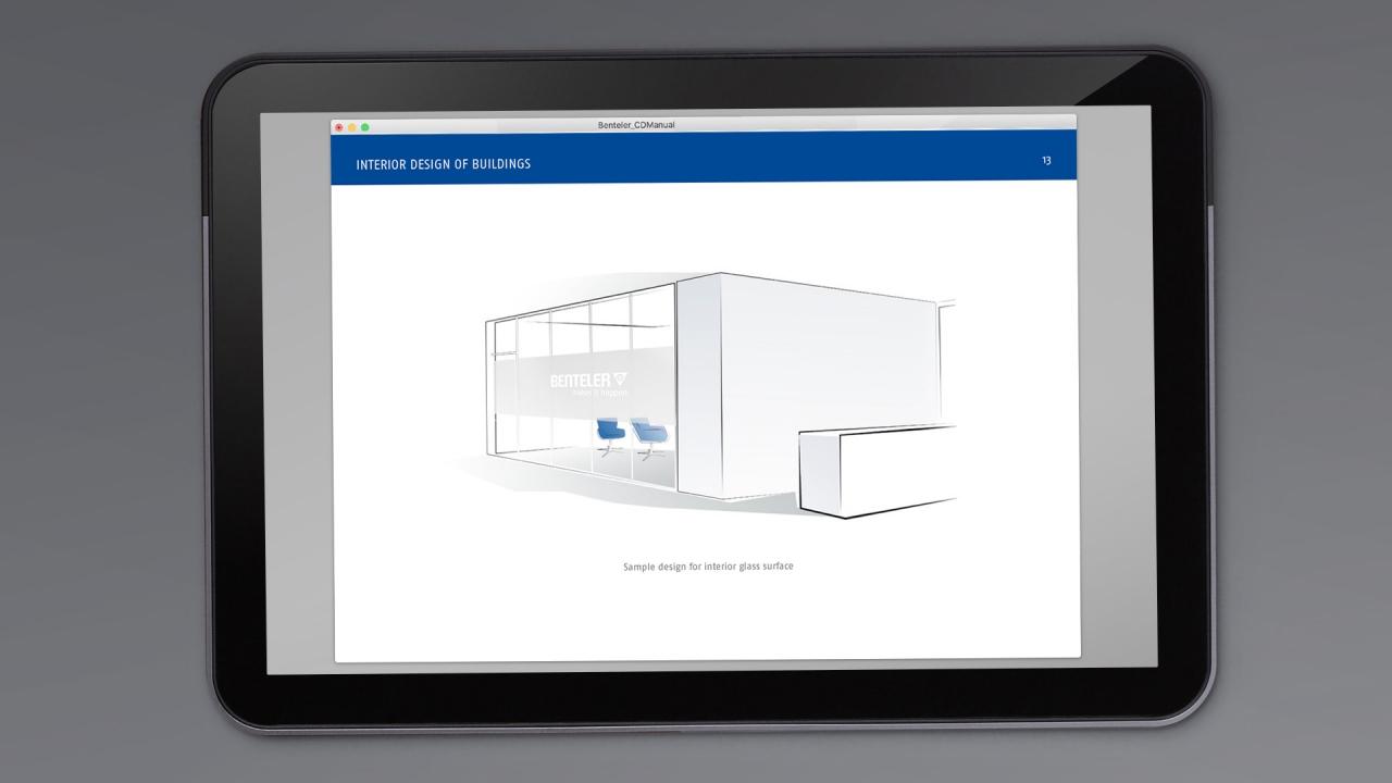 Sample design for interior glass surface Benteler