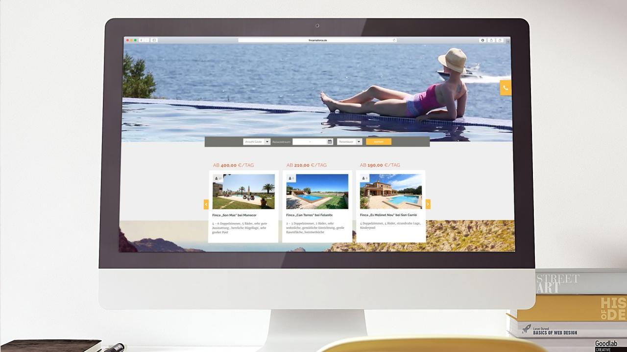 FInca Mallorca Website Startseite