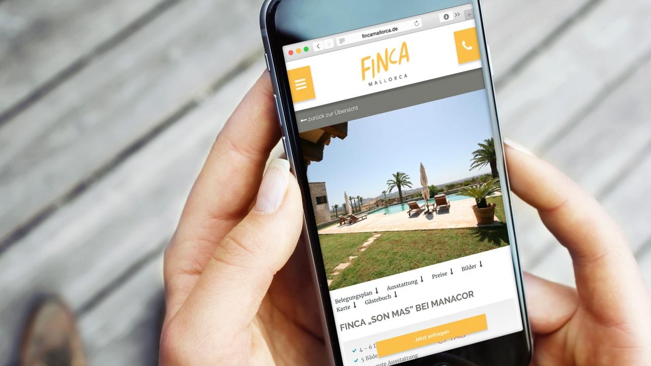 Finca Mallorca Website Mobil