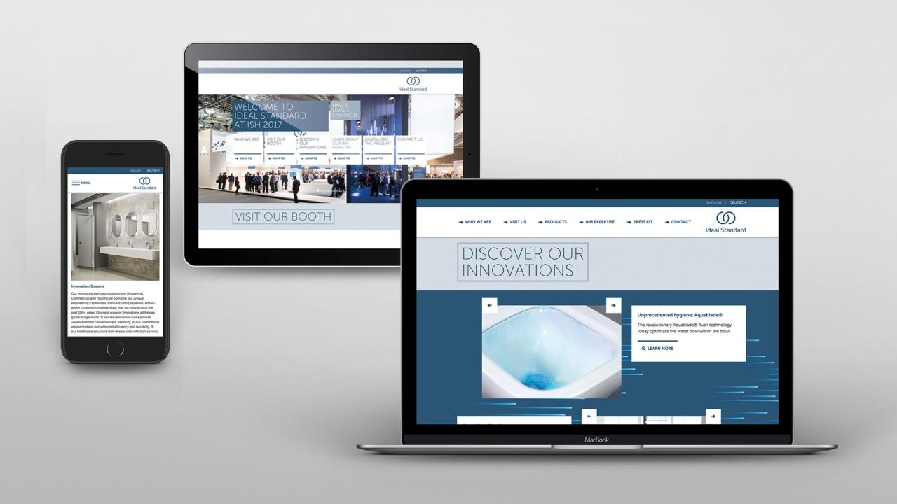 Ideal Standard Websites Pages