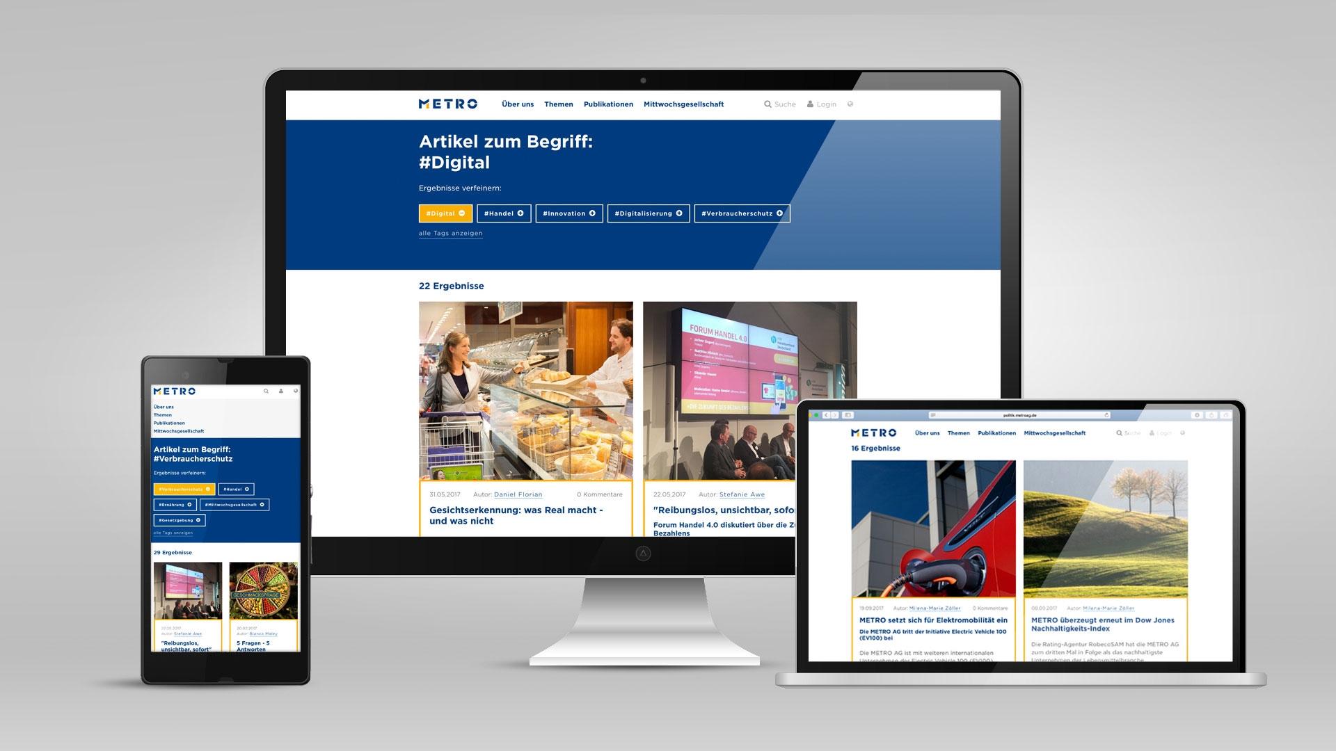 METRO AGs Berlin office interactive website