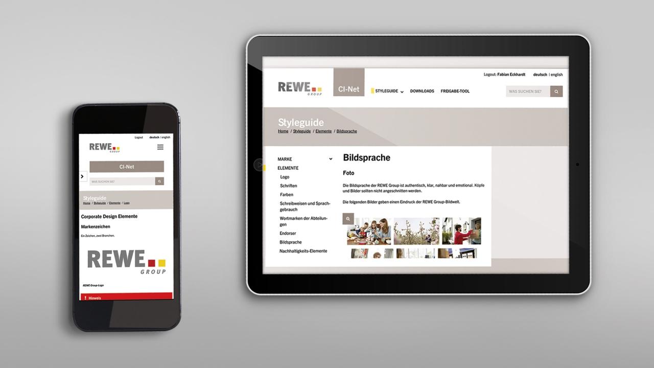 REWE Website online mobil