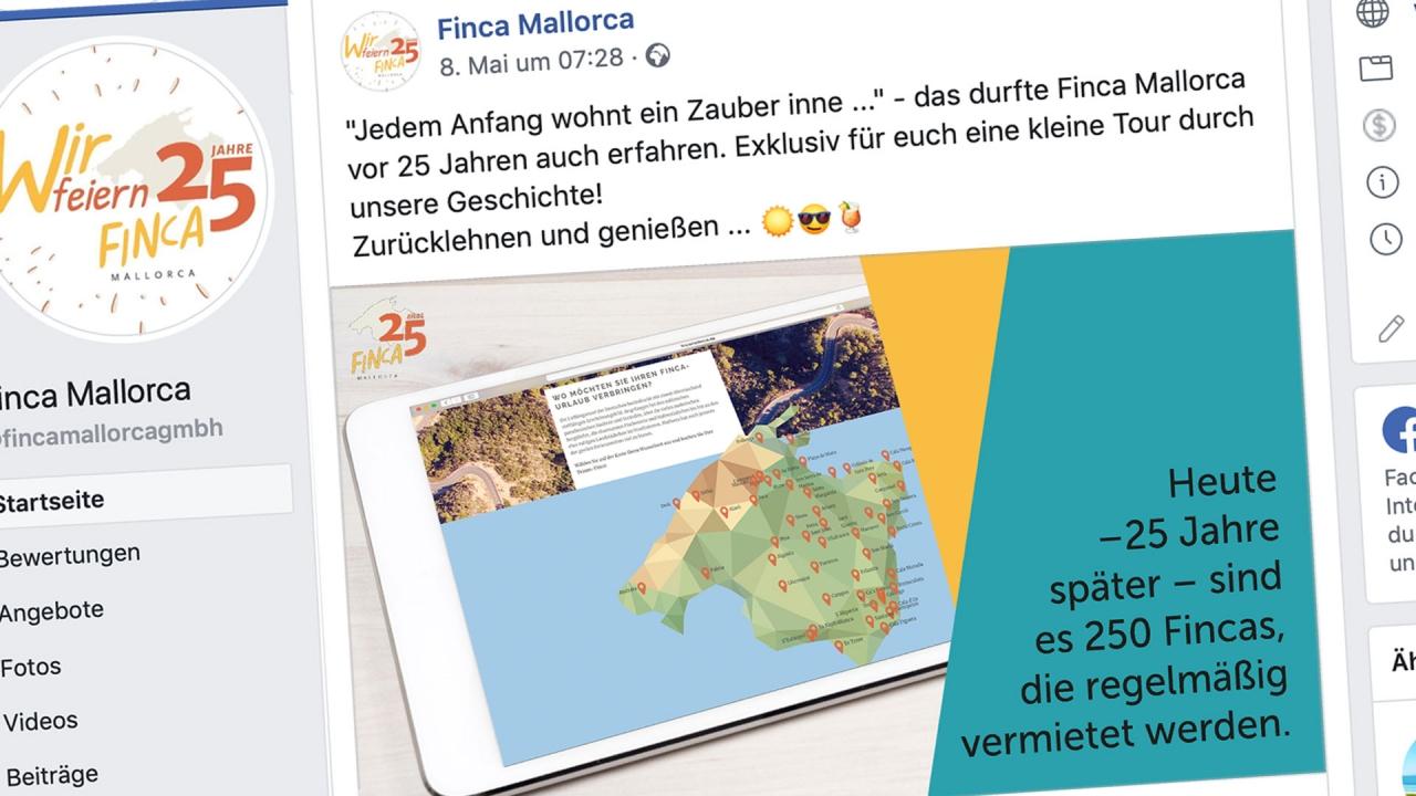 Finca Mallorca – Jubiläumskampagne