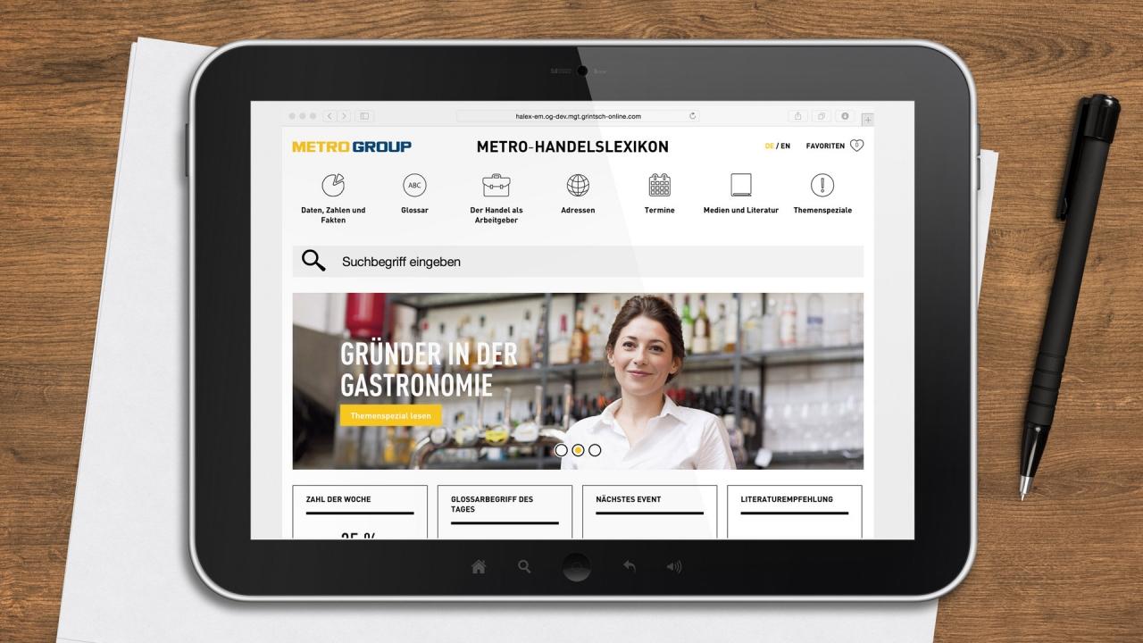 Metro Handelslexikon Website