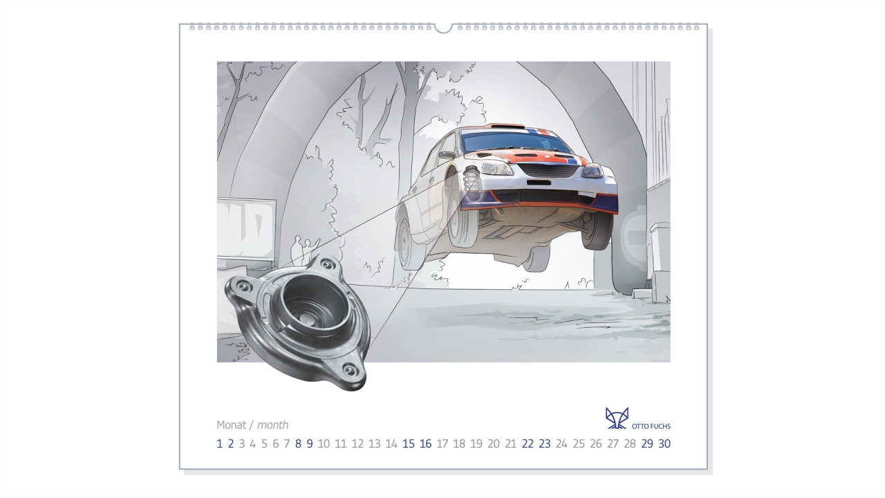 TNA Project: Jahreskalender / Calendar Otto Fuchs AG