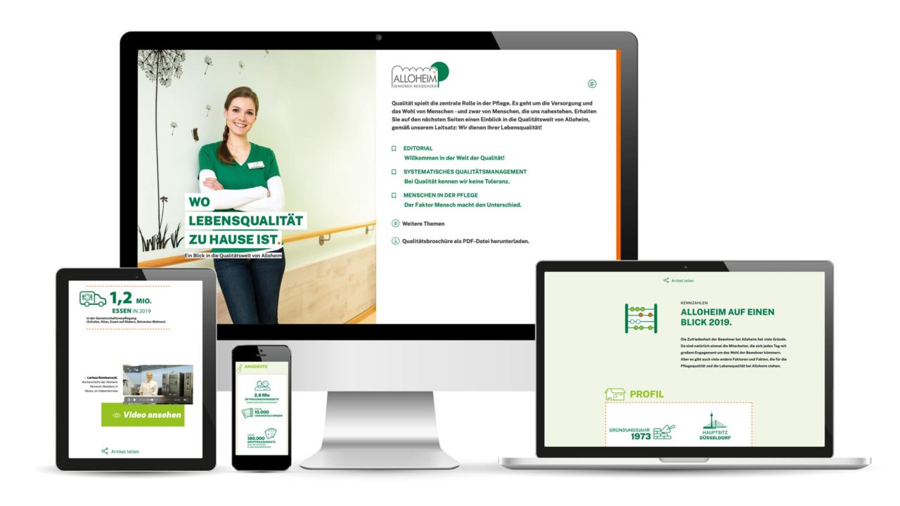 ALLOHEIM Qualitätsbroschüre: Konzept, Design, Layout, Fotografie, Text