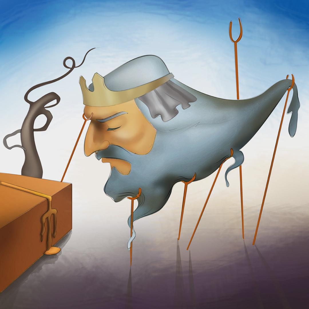 "Dalí Adaptation ""Wassermann hängt ab"" / ""Merman is hanging out"""