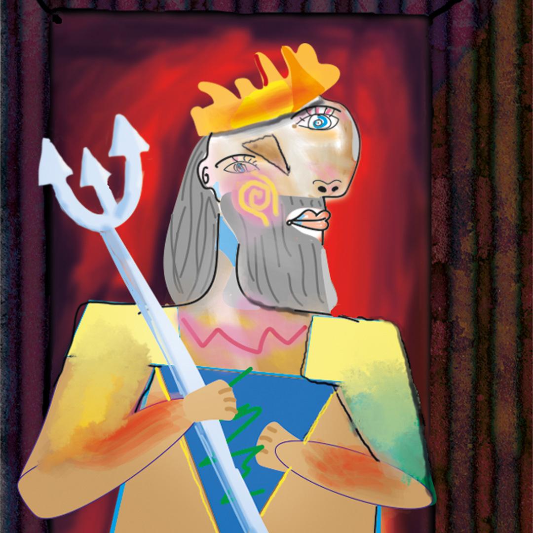 """Pablo Picasso Adaptation """"Wassermann Portrait"""" / """"Merman portrait"""""""